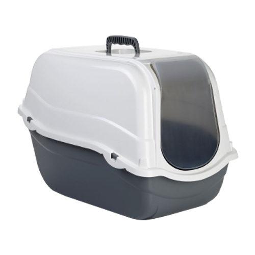Beeztees - Bac à litière pour chat - Romeo - Gris / blanc