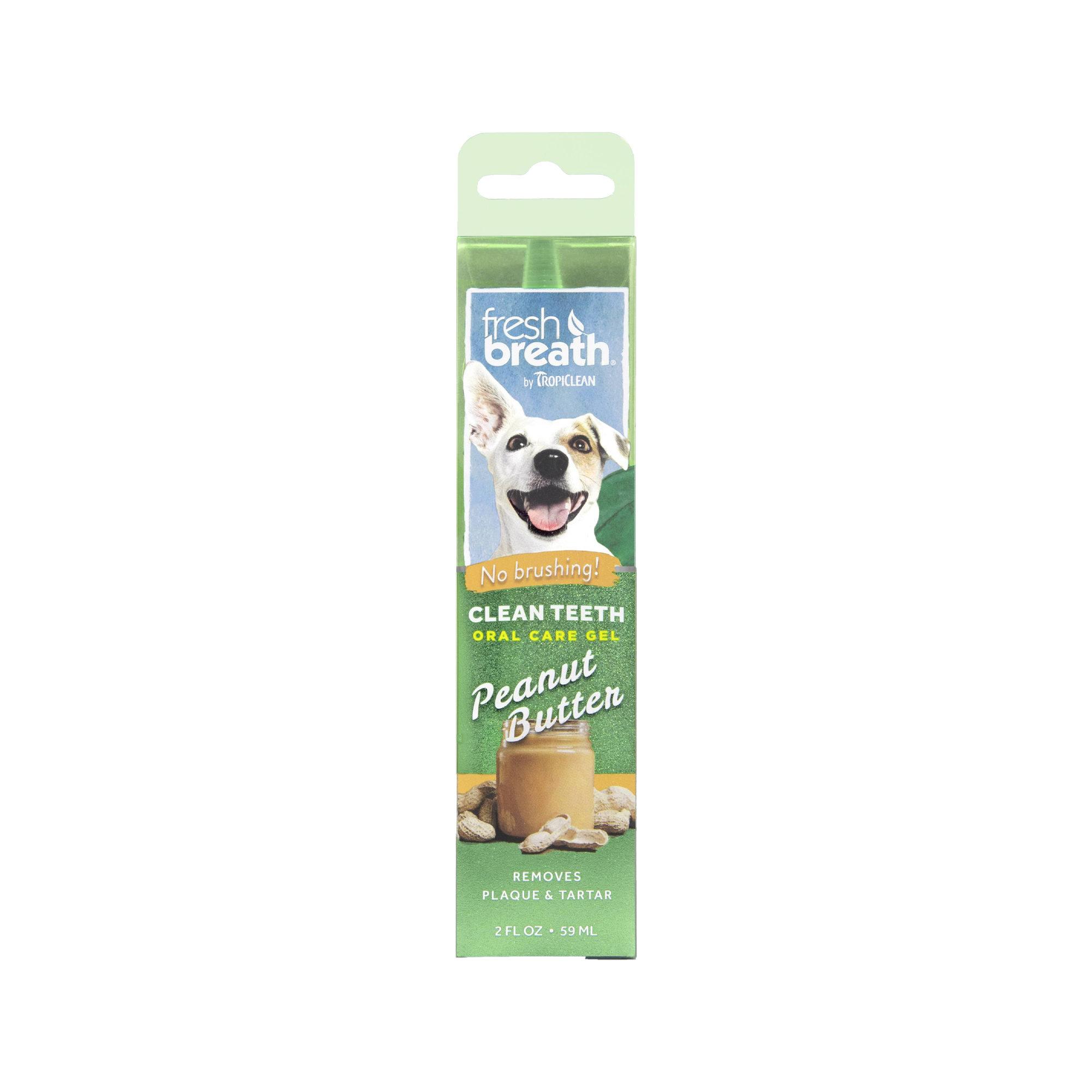 TropiClean Fresh Breath OralCareGel Kit Peanut Butter Hund