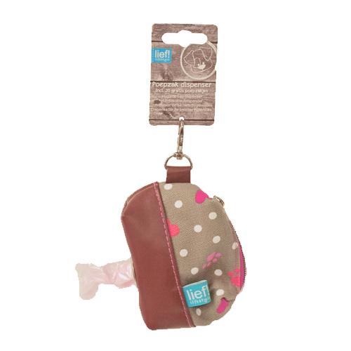 lief! Girls - Distributeur de sacs à déjection pour chien - Taupe