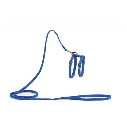 Beeztees Nylon - Harnais pour chat - Bleu