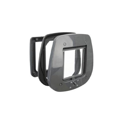 Trixie 4-Wege Freilauftür für Glastüren - Grau