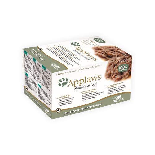 Applaws Multipack Katzenfutter - Frischebeutel - Fish Selection - 8 x 60 g