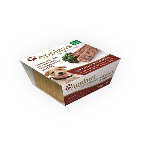 Applaws Paté Hundefutter - Schälchen - Chicken & Vegetables - 7 x 150 g