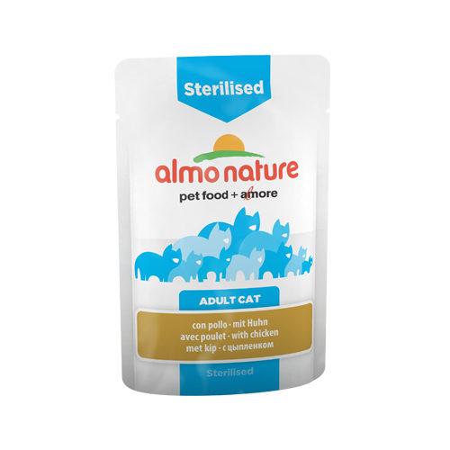 Almo Nature Sterilised Katzenfutter - Frischebeutel - Huhn - 30 x 70 g