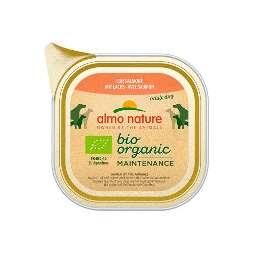 Almo Nature Bio Organic Maintenance Hundefutter - Schälchen - Lachs - 32 x 100 g
