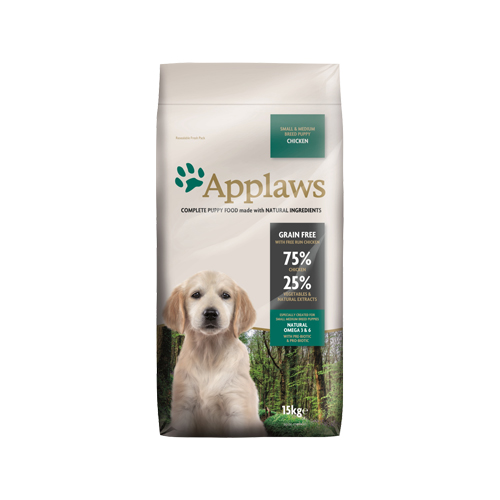 Applaws Puppy Small & Medium - Poulet - 15 kg