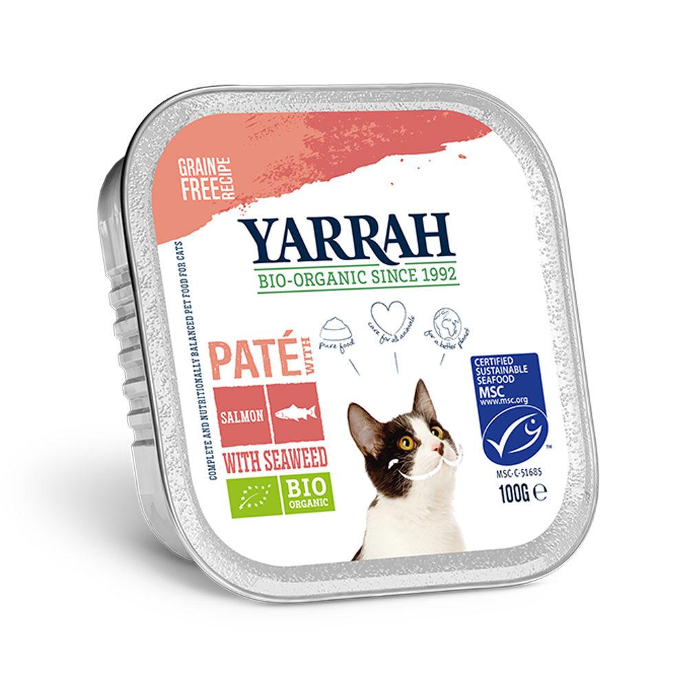 Yarrah Bio Paté Katzenfutter - Schälchen - Lachs (MSC) mit Seetang