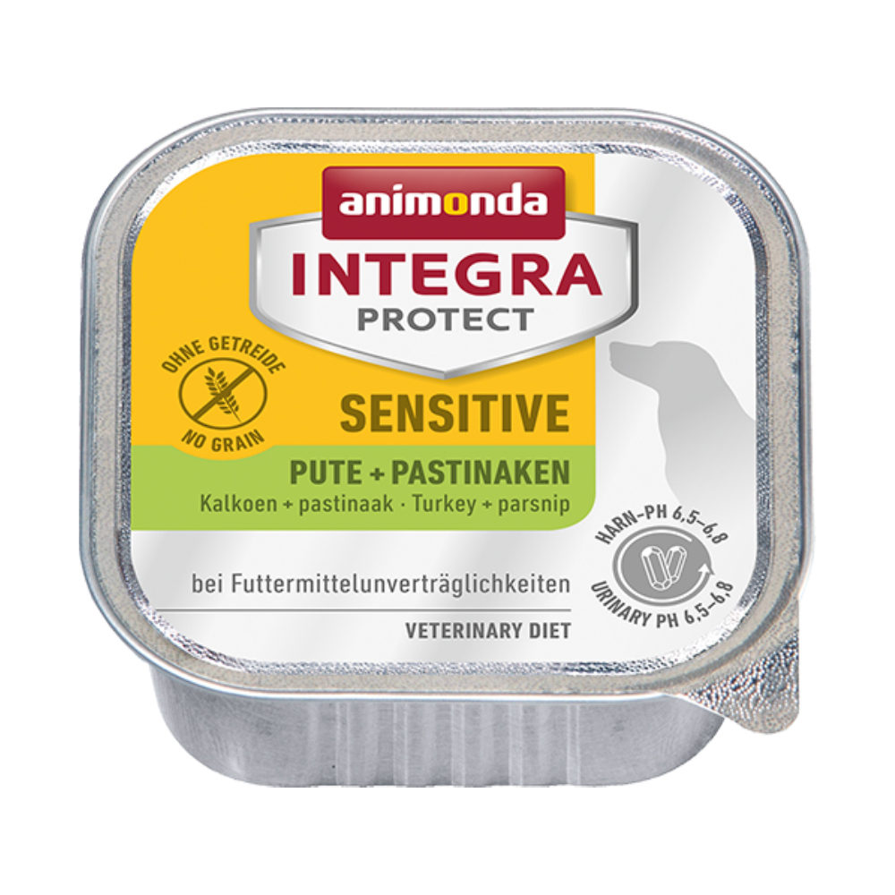 Animonda Integra Protect Sensitive Hundefutter - Schälchen - Pute & Pastinaken - 11 x 150 g