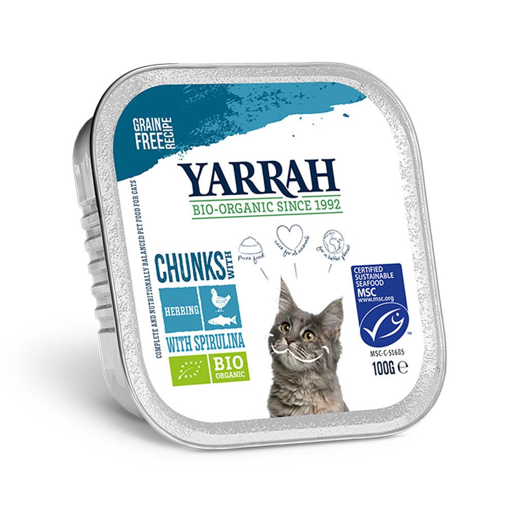 Yarrah Bio Chunks - Barquette - Poulet et poisson avec spirulina