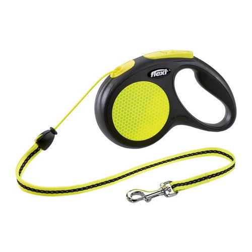 Flexi Rollleine New Neon - Cord Leash