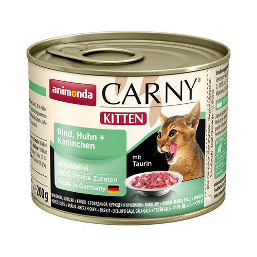 Animonda Carny Kittenfutter - Dosen - Rind / Huhn / Kaninchen - 6 x 200 g