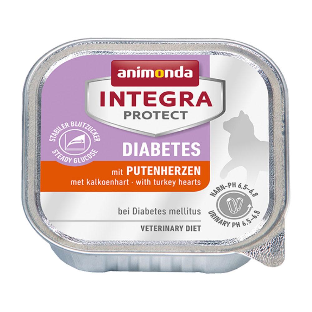 Animonda Integra Protect Diabetes Katzenfutter - Schälchen - Putenherz - 16 x 100 g