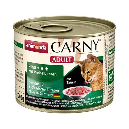 Animonda Carny Adult - Boîte - Bœuf , gibier et canneberge - 6 x 200 g
