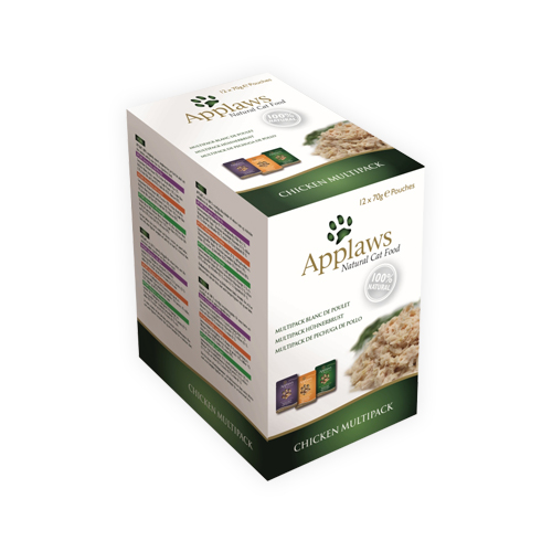 Applaws Multipack - Chicken in Broth - Sachet - 12 x 70 g