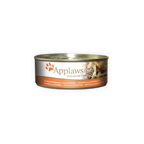 Applaws - Poitrine de poulet et citrouille- Boîte - 24 x 70 g