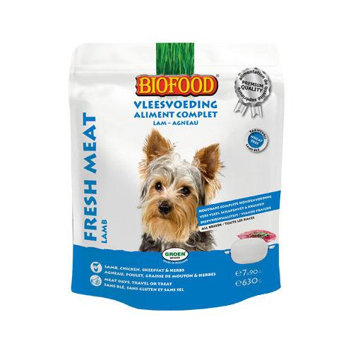 Biofood Frischfleisch Hundefutter - Frischebeutel - Lamm