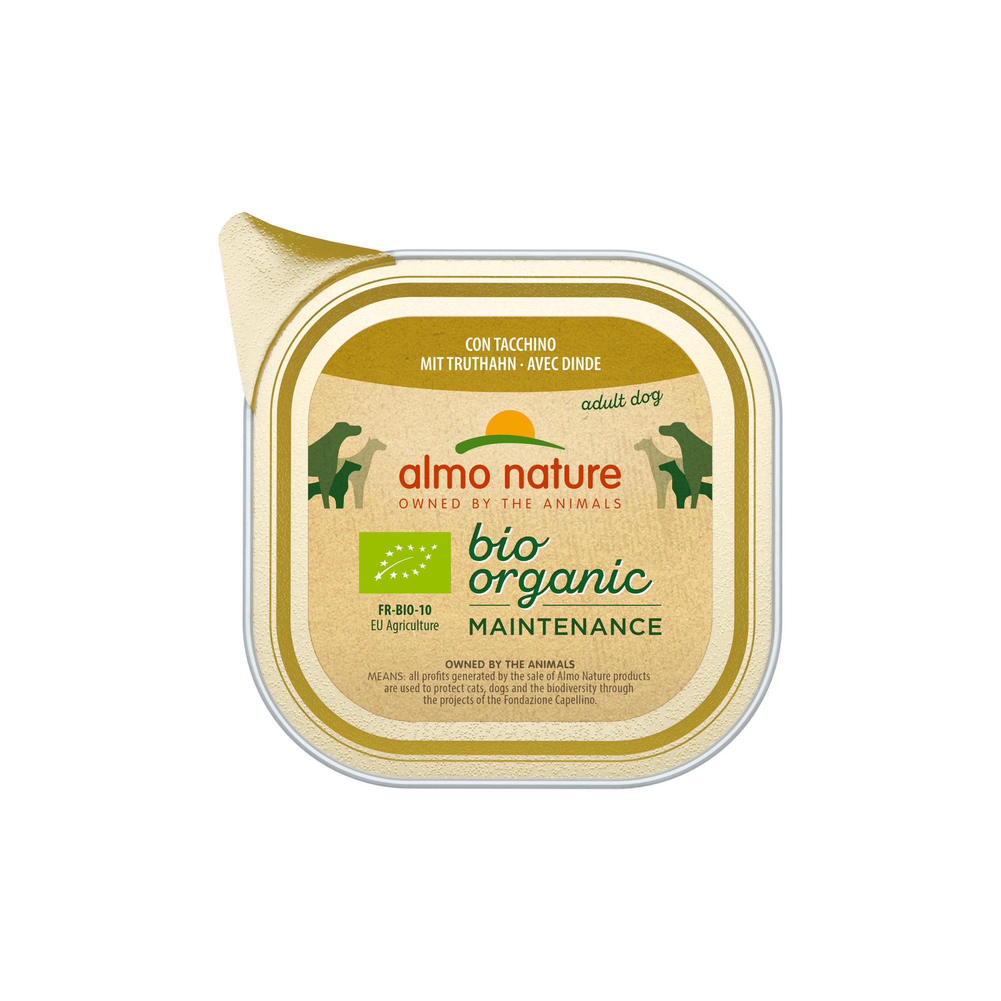 Almo Nature Bio Organic Maintenance Hundefutter - Schälchen - Pute - 32 x 100 g