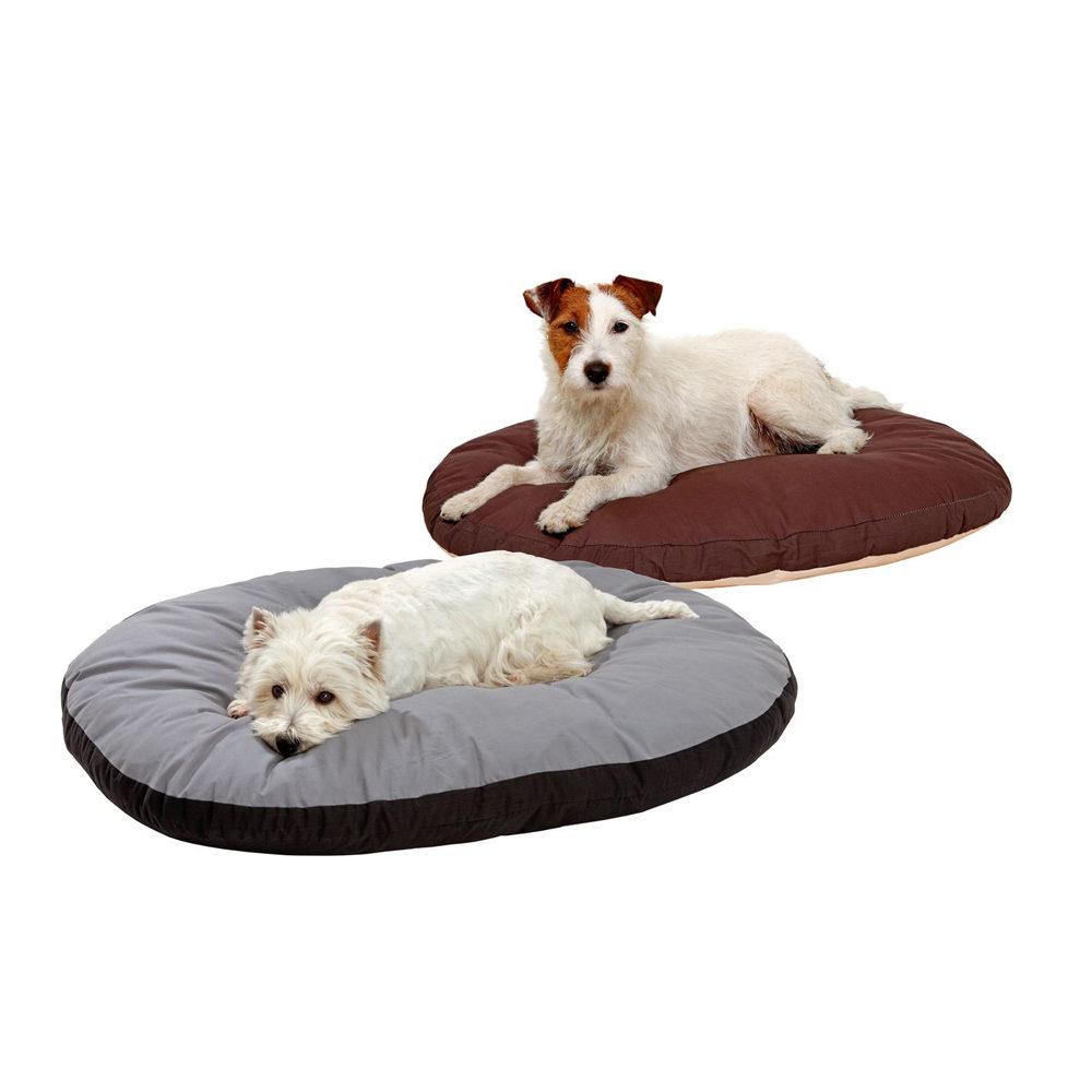 Doc Bed ovales Hundekissen - Beige & Braun