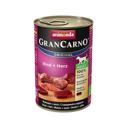 Animonda GranCarno Original Adult Hundefutter - Dosen - Rind & Herz - 6 x 400 g