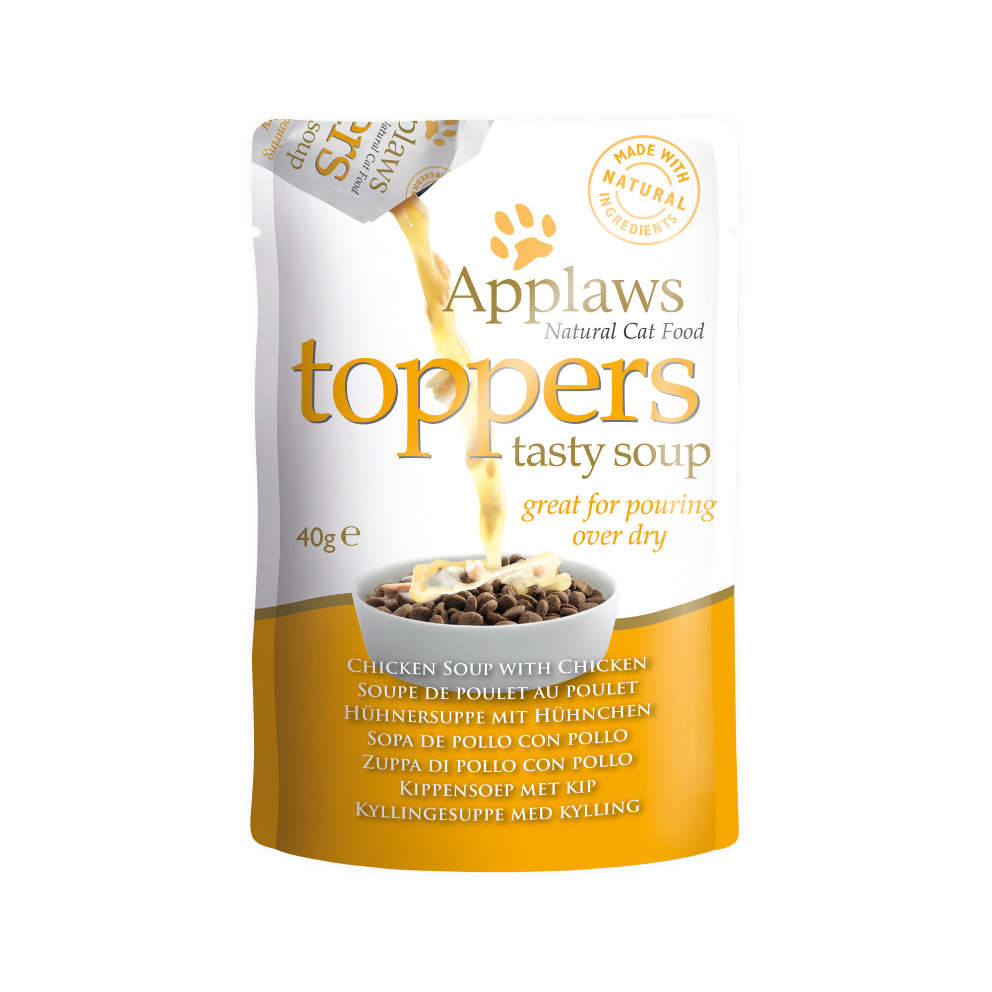 Applaws Toppers Tasty Soup - Poulet - Sachet - 3 x 40 g