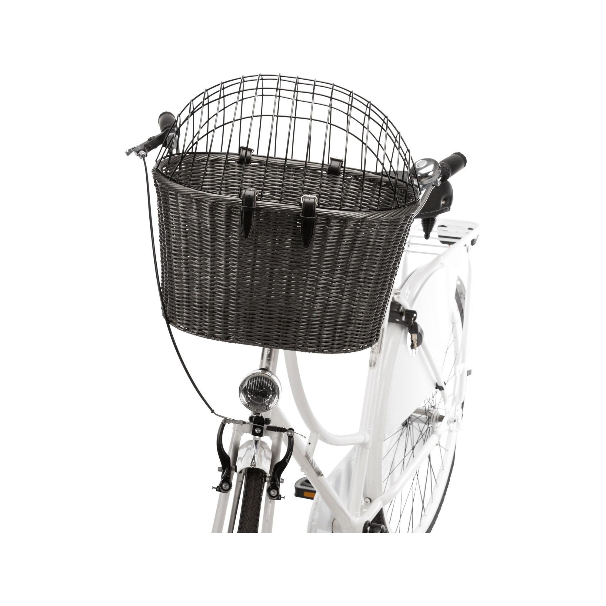Trixie Panier à vélo pour chien Rattan