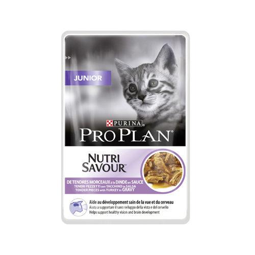 Purina Pro Plan NutriSavour Katzenfutter - Frischebeutel - Junior