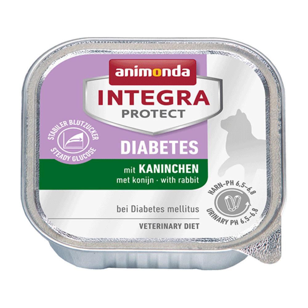 Animonda Integra Protect Diabetes - Barquette - Lapin - 16 x 100 g