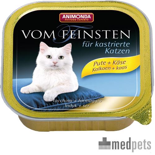 Animonda Vom Feinsten kastrierte Katzenfutter - Schälchen - Pute/Käse - 32 x 100 g
