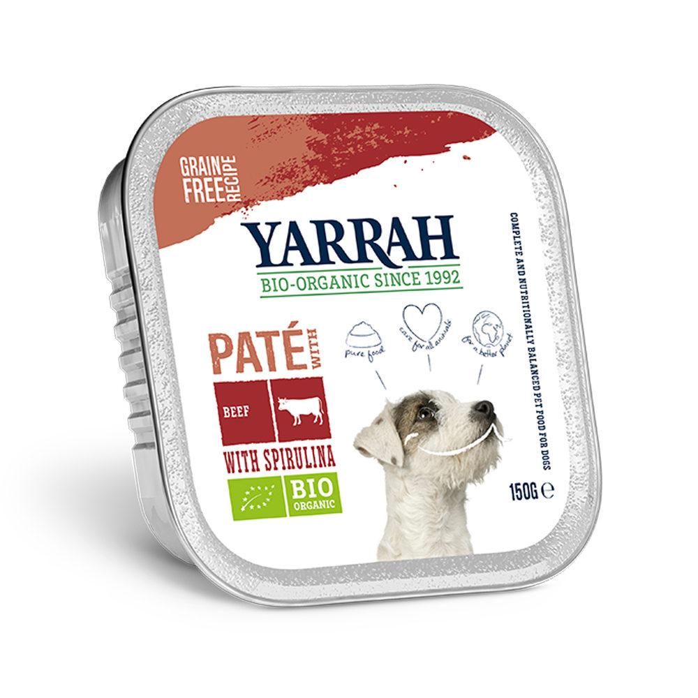 Yarrah Bio Paté Hundefutter - Schälchen - Rind und Huhn
