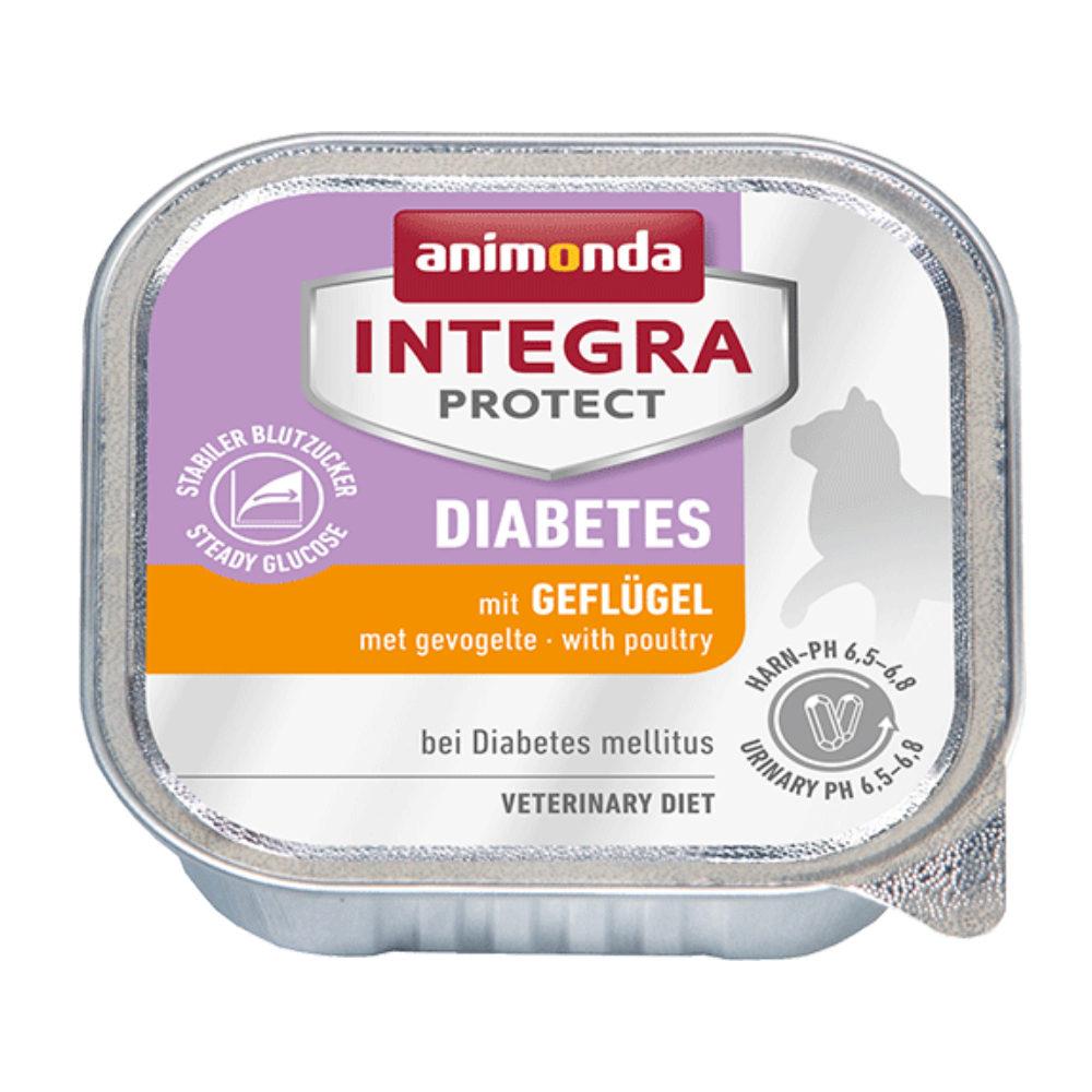 Animonda Integra Protect Diabetes Katzenfutter - Schälchen - Geflügel - 16 x 100 g