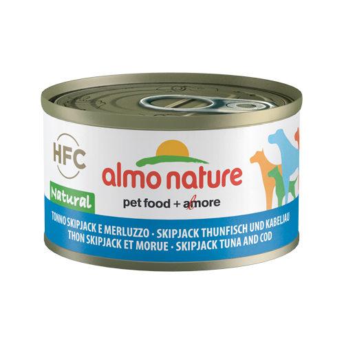 Almo Nature HFC 95 Natural Hundefutter - Dosen - Skipjack Thunfisch - 24 x 95 g