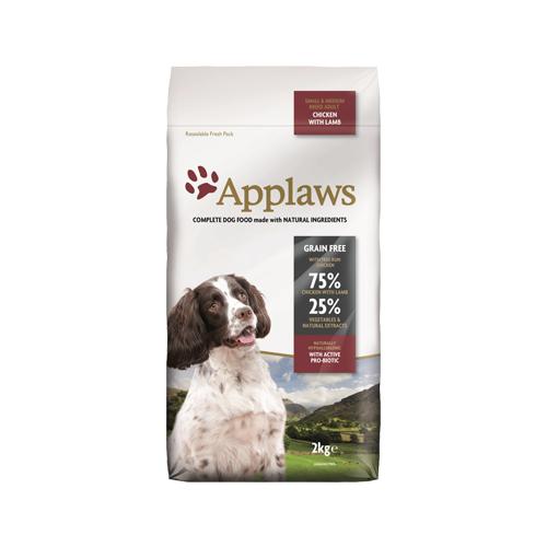 Applaws Adult Small & Medium Hundefutter - Huhn & Lamm - 2 kg