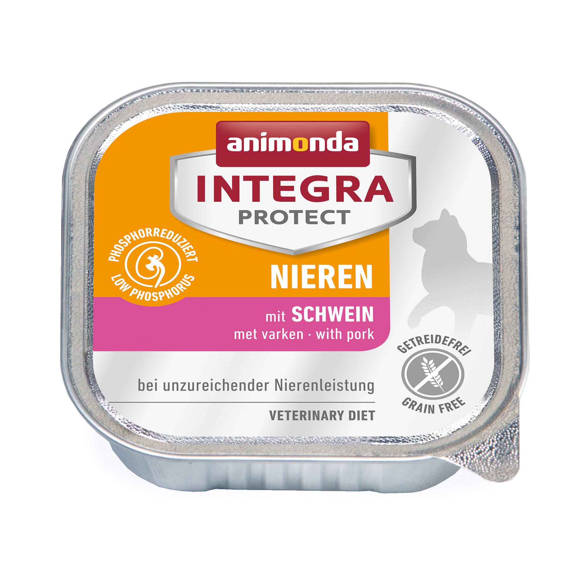 Animonda Integra Protect Nieren Katzenfutter - Schälchen - Schwein - 16 x 100 g