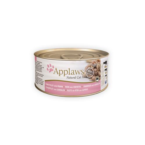 Applaws - Filet de thon et crevette - Boîte - 24 x 156 g