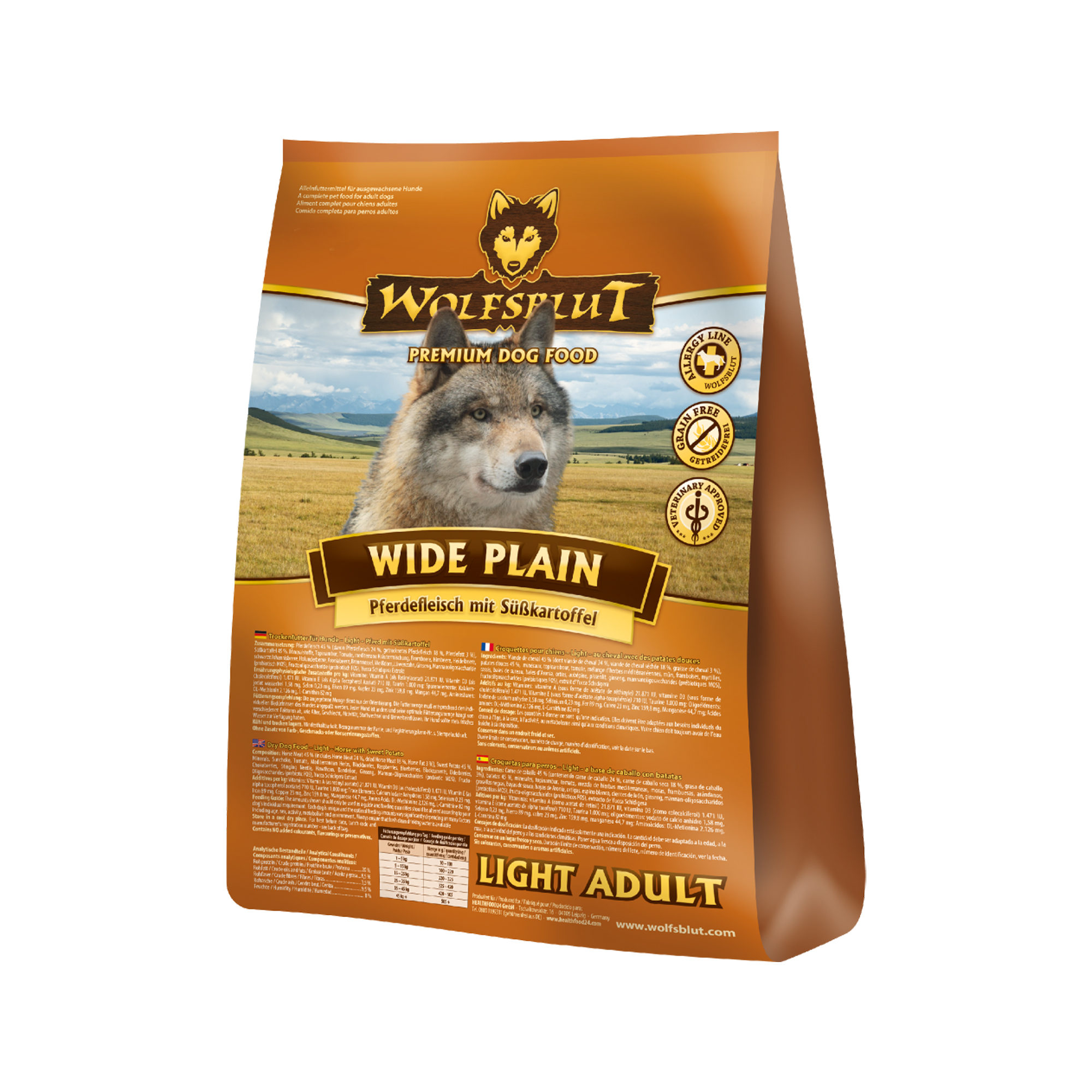 Wolfsblut Wide Plain Light Adult Hundefutter