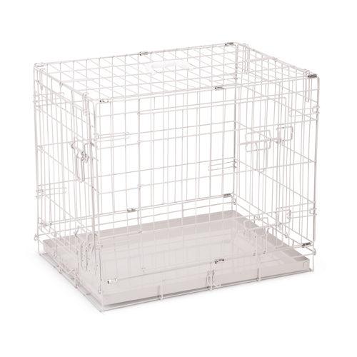 Beeztees - Caisse pour chien avec deux portes - Gris