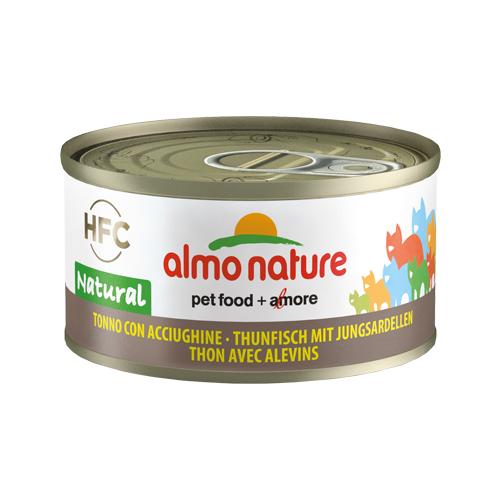Almo Nature HFC 70 Natural Katzenfutter - Dosen - Thunfisch & Junge Anchovis