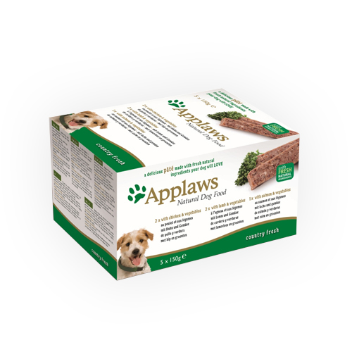 Applaws Hundefutter Country Fresh Selection - Schälchen - Multipack - 5 x 150 g