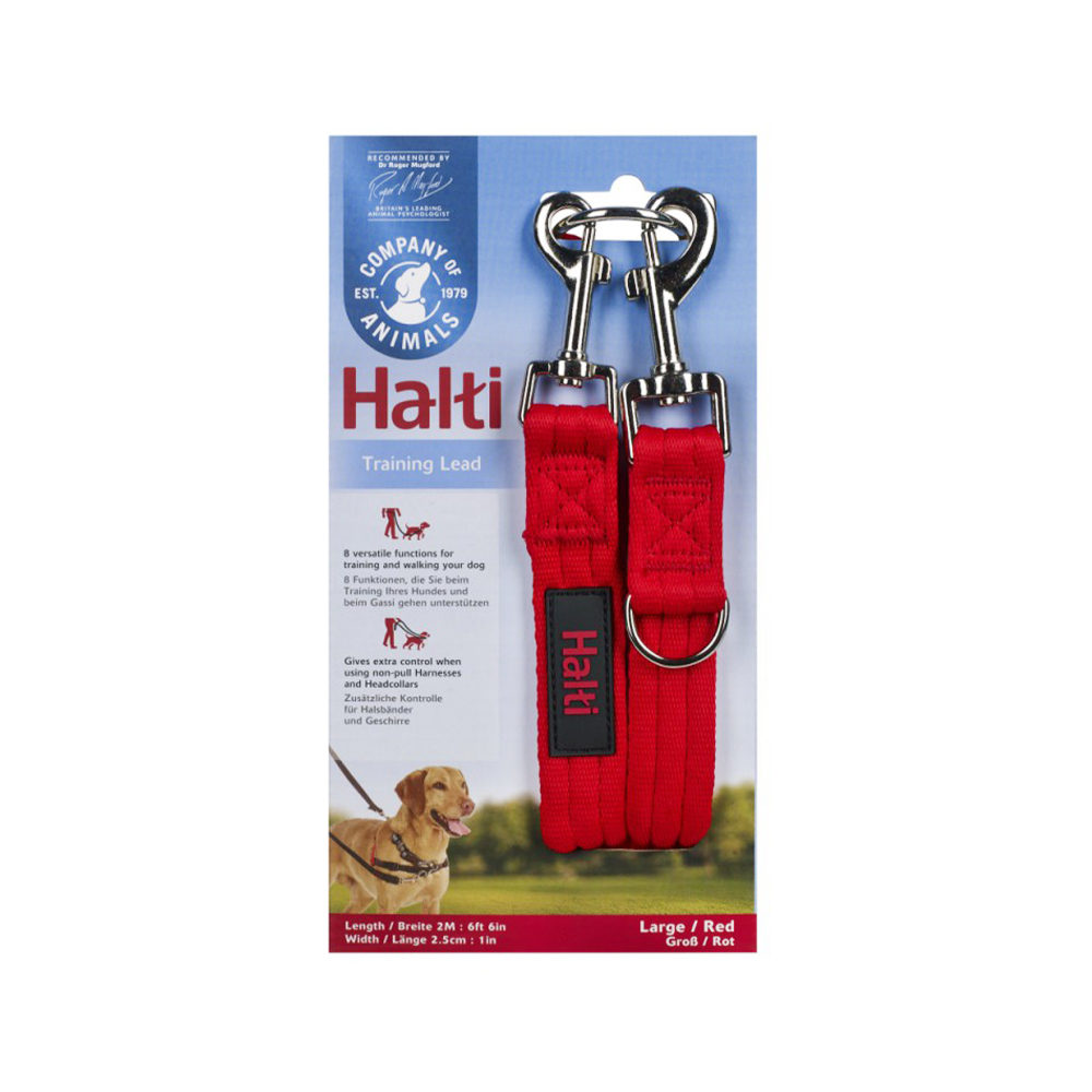 Halti Chiens - Laisse de dressage - Rouge