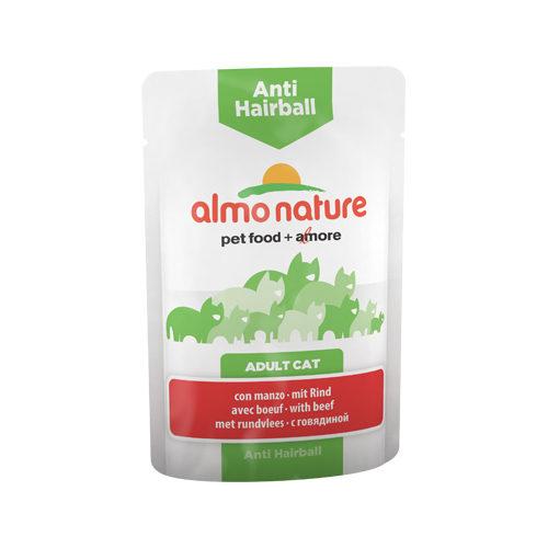 Almo Nature Anti Hairball Katzenfutter - Frischebeutel - Rind