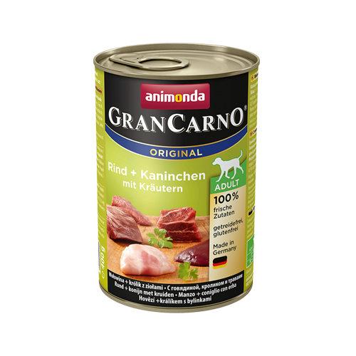 Animonda GranCarno Original Adult Hundefutter - Dosen - Rind, Kaninchen & Kräuter - 6 x 40 g