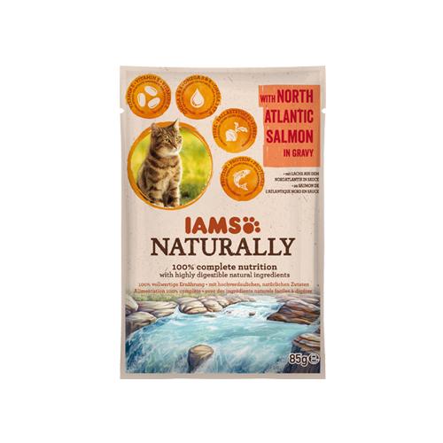 IAMS Naturally in Gravy - Sachet - North Atlantic Salmon