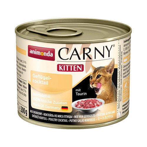 Animonda Carny Kittenfutter - Dosen - Rind & Geflügel - 6 x 200 g