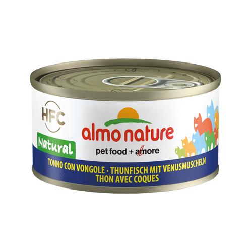 Almo Nature HFC 70 Natural Katzenfutter - Dosen - Thunfisch & Muscheln