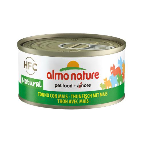 Almo Nature HFC 70 Natural Katzenfutter - Dosen - Thunfisch & Mais - 24 x 70 g