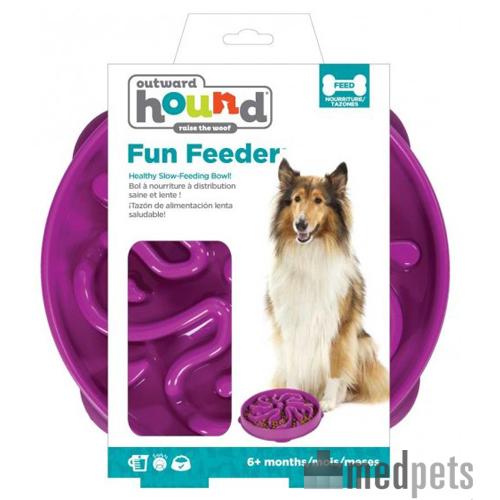 Outward Hound Fun Feeder - Purple