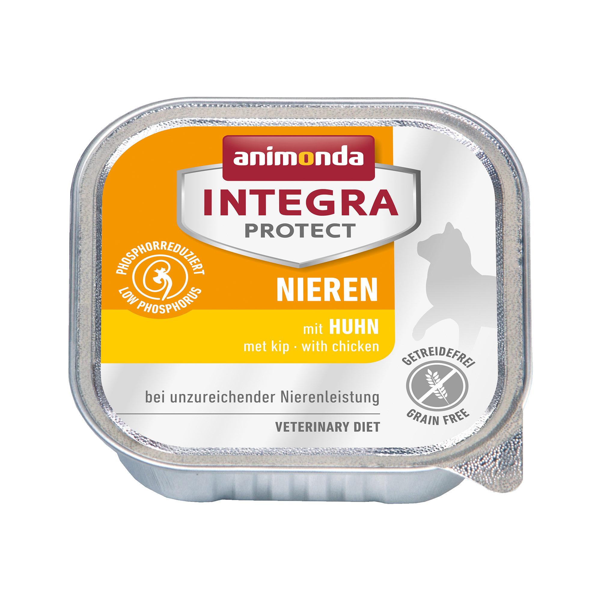 Animonda Integra Protect Nieren Katzenfutter - Schälchen - Huhn - 16 x 100 g