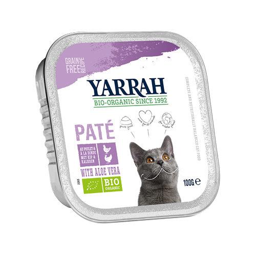 Yarrah Bio Paté Katzenfutter - Schälchen - Huhn & Truthahn mit Aloe Vera Bio