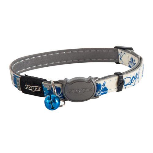 Rogz Beltz GlowCat - Blue Floral