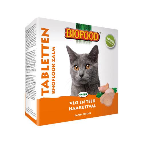 Biofood Knoblauchtabletten für Katzen - Lachs - 100 Tabletten